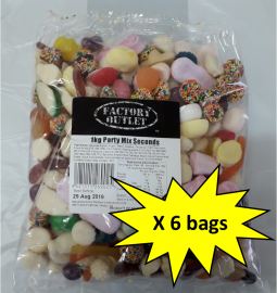 Seconds Box of 6 x Party Mix 1kg