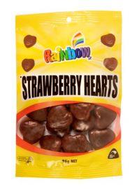 Rainbow Strawberry Hearts 95g